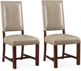 One Kings Lane Fog Weston Leather Side Chairs, Pair
