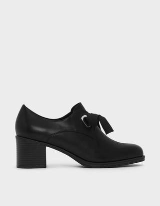 Charles & Keith Stacked Heel Oxfords