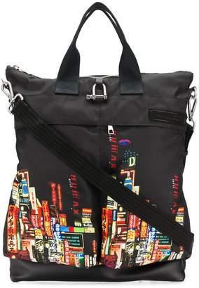 Neil Barrett Shinjuku-Soho print backpack