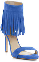 BCBGMAXAZRIA High-Heel Suede Fringe Ankle Sandal