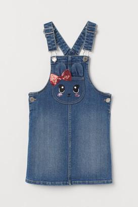 H&M Denim Overall Dress - Blue