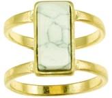 Women's Worn Gold Howlite Ring