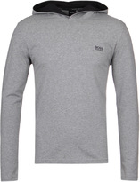 Boss Grey Marl Long Sleeve Hooded T-shirt