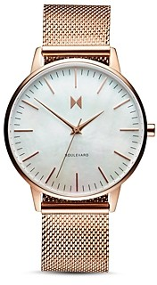 MVMT Boulevard Rose Gold Watch, 38mm
