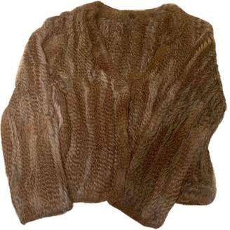MANGO Beige Rabbit Coat for Women