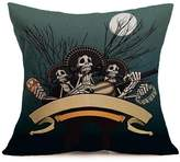 Happy Halloween! Pillow Cases Linen Soa Cushion Cover Home Decor by XILALU