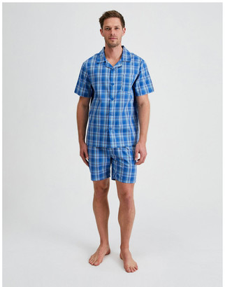 Reserve Short Sleeve Poplin PJ Set - Cool Check