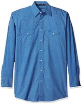 Wrangler Men's Big and Tall George Strait Two Pocket Long Sleeve Snap Shirt