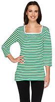 As Is Quacker Factory Nautical Stars & Stripes T-Shirt