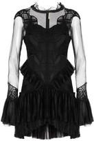 Jonathan Simkhai Ruffled Corded Lace And Tulle Mini Dress