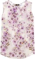 Giambattista Valli Floral-print Silk-georgette Top - Ivory