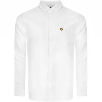 Lyle & Scott Oxford Long Sleeve Shirt White
