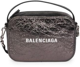 Balenciaga Extra-Small Everyday Metallic Leather Camera Bag