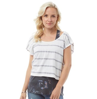 Animal Womens Hippy Twin Double Layer T-Shirt India Ink Blue