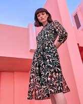 Ted Baker Crane print shirt dress