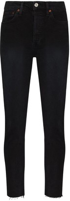 RE/DONE High-Waist Cropped Jeans
