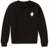 The Elder Statesman - Diamond-intarsia Cashmere Sweater