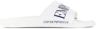 Emporio Armani classic beach slides