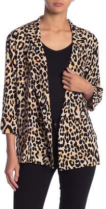 Fate Leopard Print Blazer Blouse