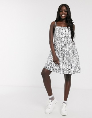 Daisy Street mini cami dress in scattered spot print
