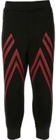 Blackbarrett zigzag patterned cropped track pants
