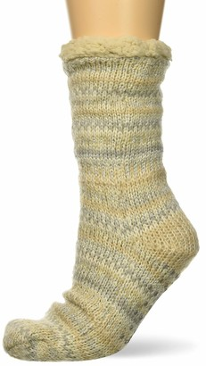 Dearfoams Women's Fancy Fairisle Blizzard Sock Slipper