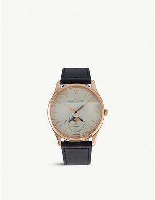 Jaeger-LeCoultre Jaeger Le Coultre Q1362520 Master Moon Phase stainless steel and alligator leather watch, Women's