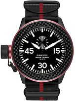 Glam Rock Men's Racetrack Black and Red Nylon Black Dial