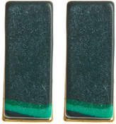 Trina Turk Malachite Bar Stud Earrings