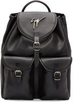 Giuseppe Zanotti Black Zip Trim Backpack
