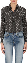 Saint Laurent Women's Star-Print Cotton Twill Shirt