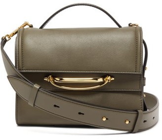 Alexander McQueen The Story Small Leather Bag - Womens - Khaki Multi