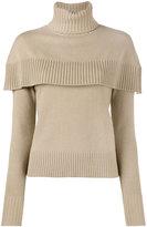 Chloé cape roll neck top - women - Cashmere - XS