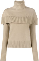 Chloé cape roll neck top