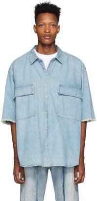 Fear Of God Blue Denim Shirt