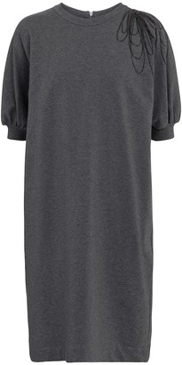 Brunello Cucinelli Stretch-cotton sweatshirt dress