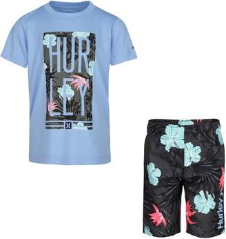 Hurley Boys 4-7 Dri-FIT UPF 50+ Tropical Top & Board Shorts Set
