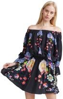 Cynthia Rowley Silk Floral Drop Waist Mini