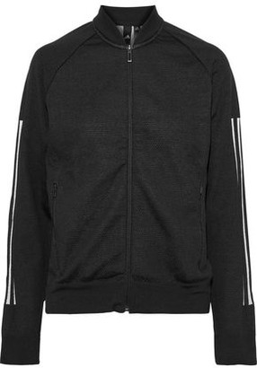 adidas Striped Stretch-jersey And Mesh Track Jacket