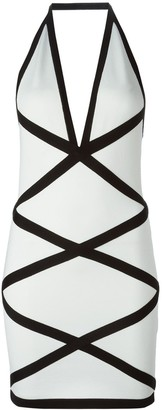 Balmain Open Back Dress