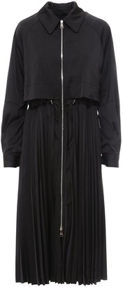 Karl Lagerfeld Paris Pleated Trench Coat