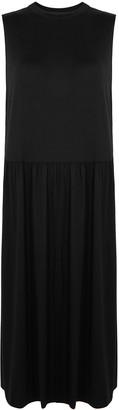 Eileen Fisher Black Stretch-jersey Midi Dress