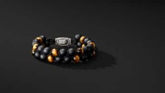 David Yurman Spiritual Beads Two-Row Bracelet With Black Onyx And