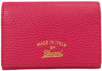 Gucci Pink Leather Swing Wallet