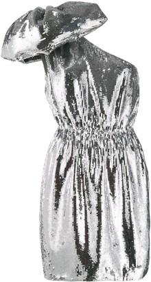 No.21 Large Bow Sequin Short Dress
