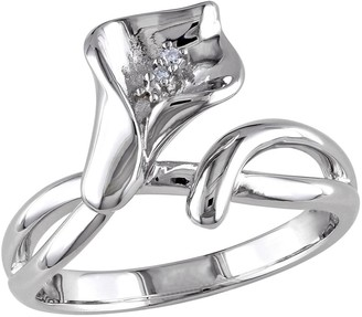 Affinity Diamond Jewelry Affinity Diamond Accent Flower Ring, Sterling