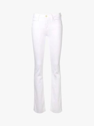 Frame Le Mini Bootcut Jeans, White