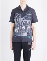 Lanvin The Refinery abstract-print slim-fit shirt