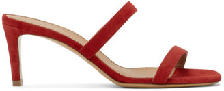 Mansur Gavriel Red Suede Fino Sandals
