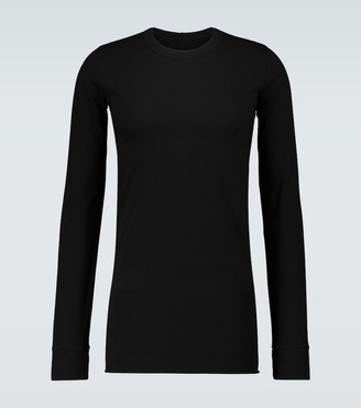 Rick Owens Basic long-sleeved cotton T-shirt